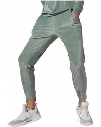 Zielone spodnie welurowe Figl