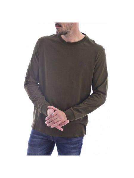 Zielona koszula jeansowa bawełniana z długimi rękawami Guess