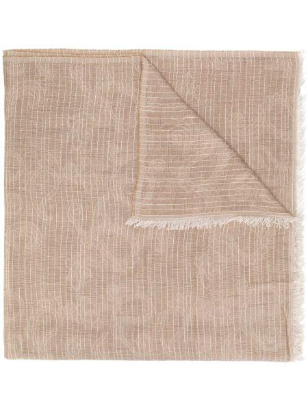 Коричневый шерстяной шарф Peserico