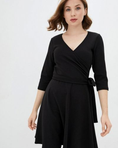 Черное платье с запахом Florens