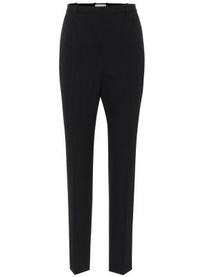 Czarny wełniany spodnie Givenchy