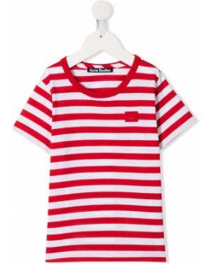 Красная прямая с рукавами футболка Acne Studios