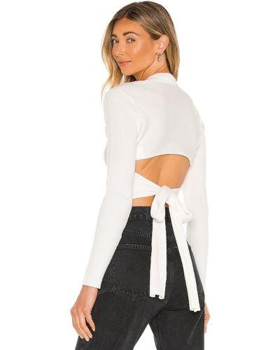 Koszulka bawełniana - biała Bardot