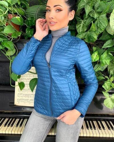 Куртка из плащевки - синяя No Brand