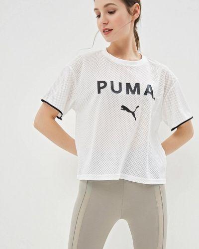 Поло белое Puma