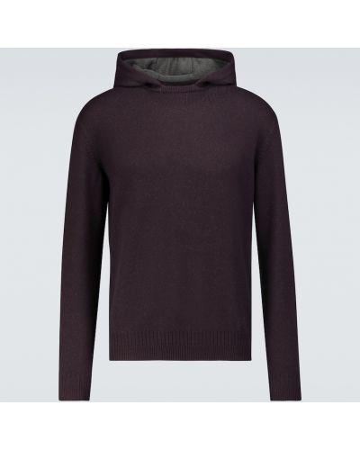 Сиреневый кашемировый свитер с капюшоном Loro Piana