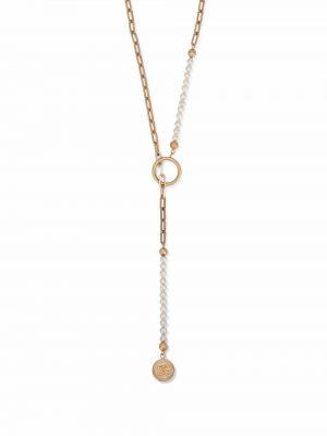 Złoty naszyjnik z pereł Dolce And Gabbana