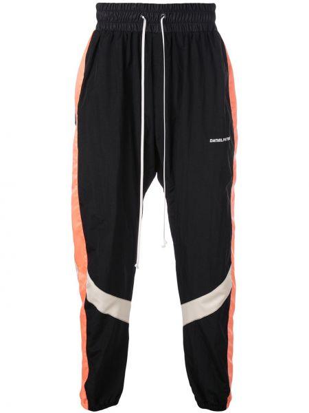 Czarne spodnie z wysokim stanem z nylonu Daniel Patrick