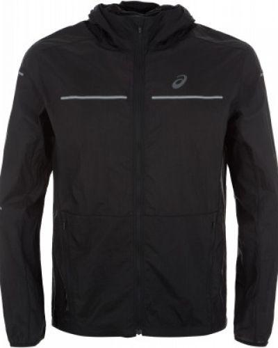 Куртка с капюшоном черная спортивная Asics