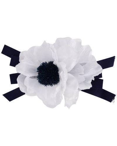 Broszka w kwiaty - biała Piccola Ludo