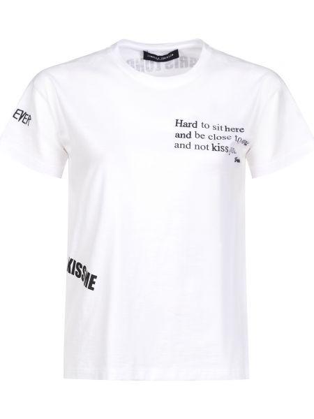Хлопковая футбольная белая футболка Frankie Morello