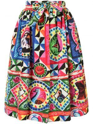 Хлопковая шорты-юбки с завышенной талией юбка Stella Jean