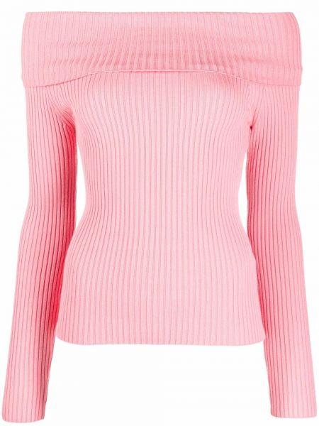 Розовый топ с длинными рукавами Blumarine