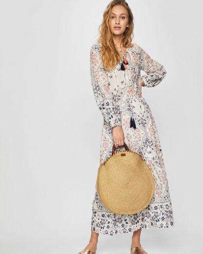 Джинсовое платье из вискозы макси Pepe Jeans