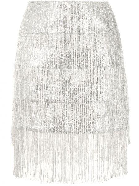Srebro spódnica frędzlami metal Macgraw