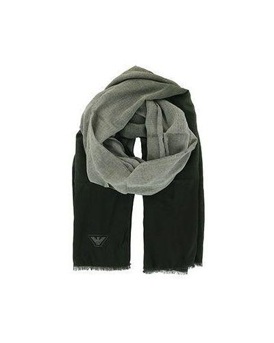 Зеленый шарф из вискозы Emporio Armani