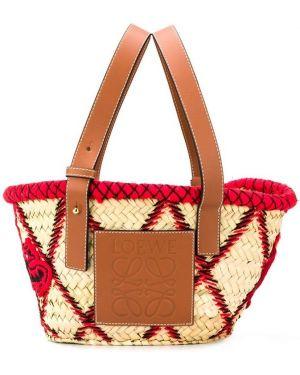 Кожаная сумка пляжная маленькая Loewe