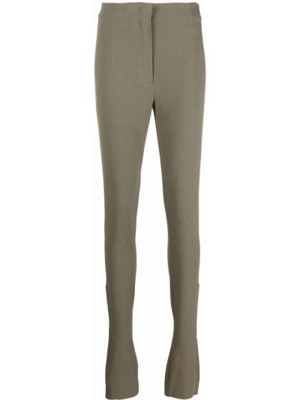 Spodnie z wysokim stanem - zielone Jacquemus