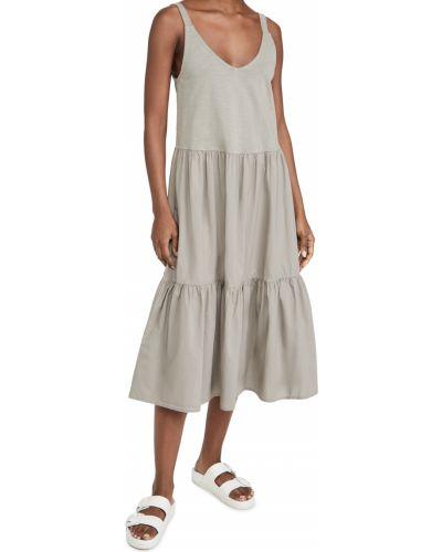Трикотажное платье винтажное с декольте Nation Ltd