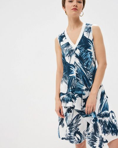 Повседневное платье спортивное синее Sportmax Code