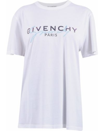 Z rękawami t-shirt z haftem Givenchy