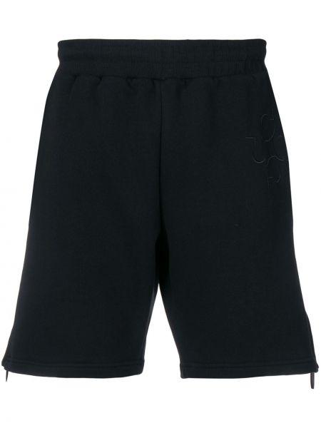 Czarne krótkie szorty z haftem bawełniane Cottweiler