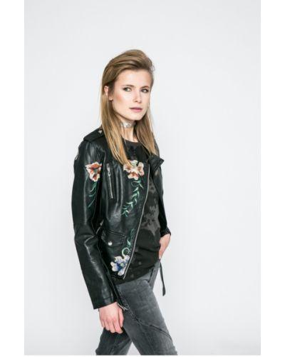 Кожаная куртка с карманами утепленная Haily's