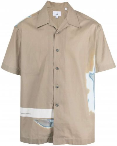 Brązowa koszula bawełniana Dunhill
