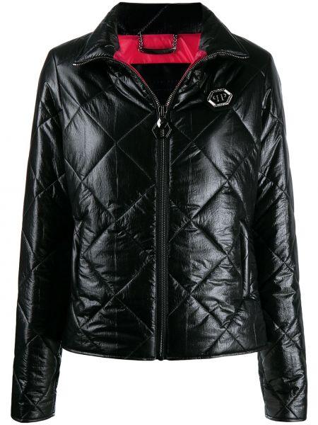 Pikowana kurtka długa z kieszeniami Philipp Plein