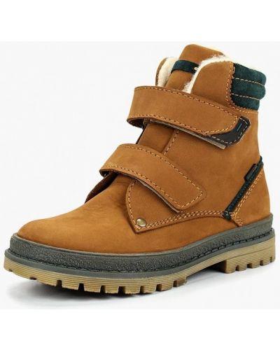 Ботинки из нубука коричневый лель
