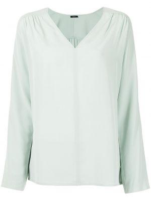 Зеленая блузка длинная Joseph