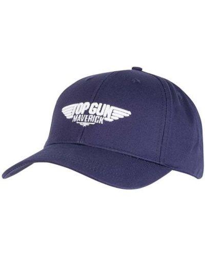 Niebieska czapka z daszkiem bawełniana Top Gun
