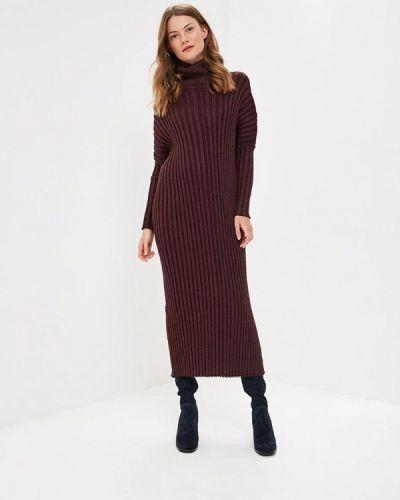 Платье осеннее красный Milanika