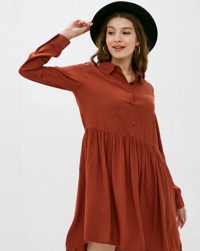 Прямое коричневое платье Fresh Made