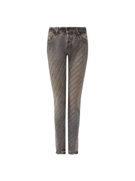 Хлопковые серые джинсы Filles A Papa