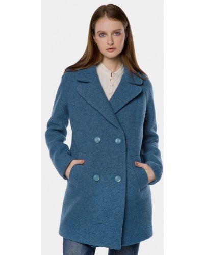 Синее пальто весеннее Mr520