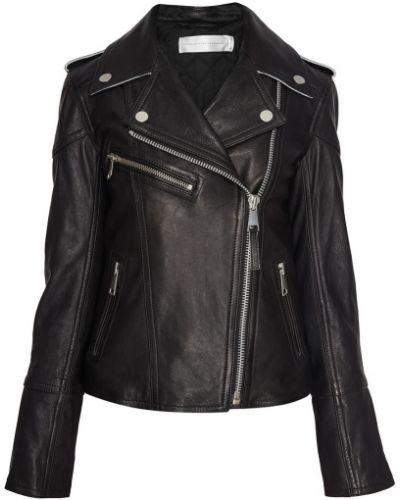 Кожаная куртка черная байкерская Victoria, Victoria Beckham