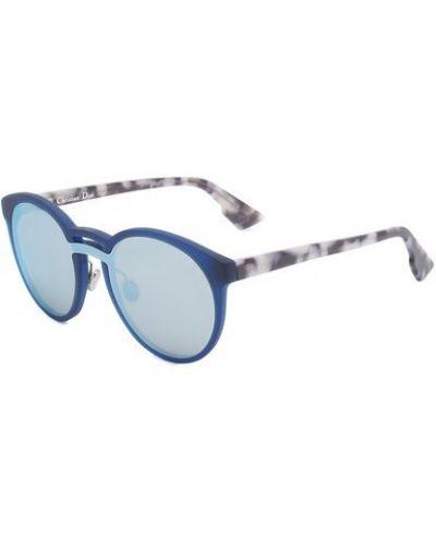 Синие солнцезащитные очки матовые Dior