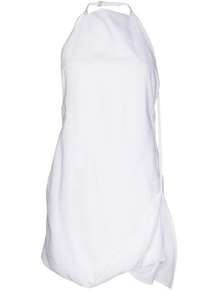 Белое платье мини из вискозы Jacquemus