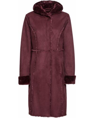 Кожаное пальто красное из искусственной кожи Bonprix