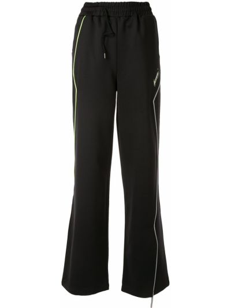 Czarne spodnie z wysokim stanem Ader Error