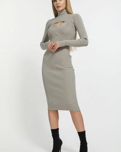 Серое весеннее платье Clever Woman Studio