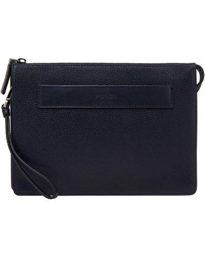 Кожаная сумка текстильная на молнии Prada