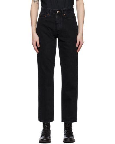 Черные прямые джинсы с карманами Won Hundred