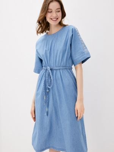 Джинсовое платье синее весеннее Baon