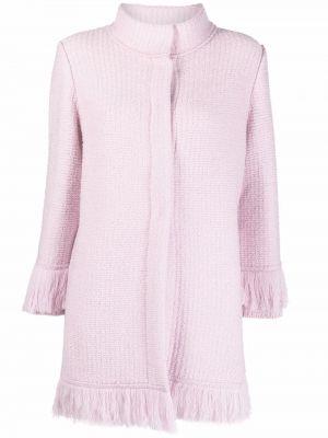 Куртка с бахромой - розовая Charlott