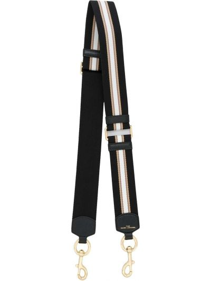 Золотистый кожаный черный ремень Marc Jacobs