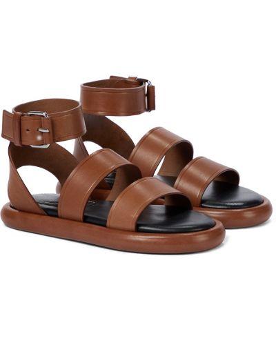 Brązowe sandały skorzane Proenza Schouler