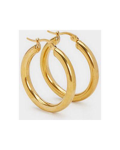 Золотые серьги металлические Parfois