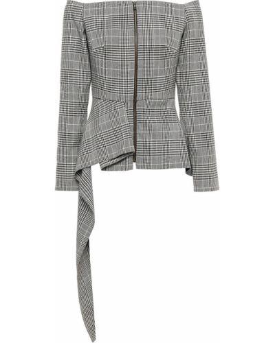 Серая шерстяная куртка Roland Mouret